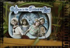 altered sardine tin can - victorian children