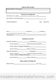 renters application form free