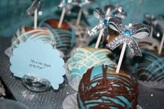 Damask and Tiffany Blue Bridal/Wedding Shower Party Ideas | Photo 2 of 45 | Catch My Party