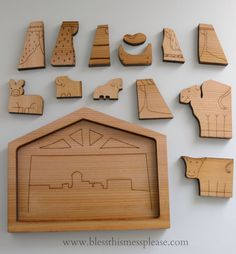 1000 images about nativity sets on pinterest nativity for Nativity cut out patterns wood