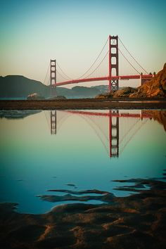 Beach weather and the Golden Gate Bridge