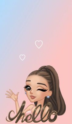 Muro Cute Girl Wallpaper, Emoji Wallpaper, Wallpaper Iphone Cute, Cute Wallpapers, Ariana Grande Anime, Ariana Grande Drawings, Ariana Grande Background, Ariana Grande Wallpaper, Emoji Tumblr