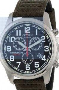 Citizen Men's AT0200-05E Eco-Drive Chronograph Canvas Watch -best online price