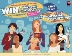 """Sally Beauty """"Fresh New Look"""" Makeover Contest by Eric Bryning, via Behance Make Keys, Sally Beauty, Mtv, New Look, Behance, Brand New, Fresh, Marketing, Behavior"""