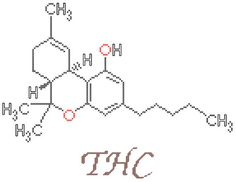 THC Molecule Counted Cross Stitch Pattern PDF by robinsdesign, $5.00