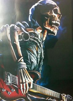 Rock n Roll Never Dies...OMG I need to get a print of this, I love it!!!!