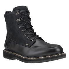 Timberland - Boots Britton Hill Moc Toe Waterproof Homme - Noir Black  Timberlands, Mens Ankle b357e684a8ee