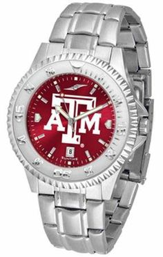 Texas A Aggies Men's Stainless Steel Dress Watch SunTime. $86.95. Officially Licensed Texas Aggies Men's Stainless Steel Dress Watch. Links Make Watch Adjustable. Stainless Steel. Men. AnoChrome Dial Enhances Team Logo And Overall Look