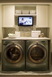 Why didn't I think of this. The perfect laundry doldrum reducer.
