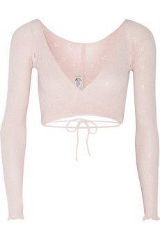 Ballet Beautiful Belle wrap-front knitted jersey top | NET-A-PORTER