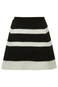Monochrome Flippy Skirt