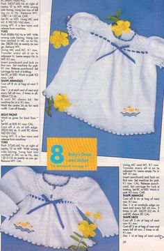 Machine Knitting News, September 1993 - baby's dress and jacket for standard gauge punchcard machine without ribber