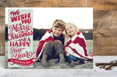 Vintage Holiday Wishes by Laura Bolter Design at minted.com