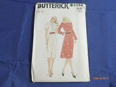 Butterick 3354 Size 8 Pattern Misses Dress by 2xisnice on Etsy