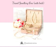 Kazzi Kovers delightful and compact travel jewellery boxes (with lock) are designed to fit comfortably into your tote, handbag, suitcase and small spaces. Ideal for securing all types of jewellery including your earrings, rings, necklaces, bracelets, broaches and more. Available in Mauve, Pink, Blue or Black.