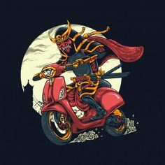Discover thousands of Premium vectors available in AI and EPS formats Vespa Illustration, Character Illustration, Arte Punk, Ghost Rider Marvel, Japanese Drawings, Samurai Art, Motorcycle Art, New Poster, Japan Tattoo