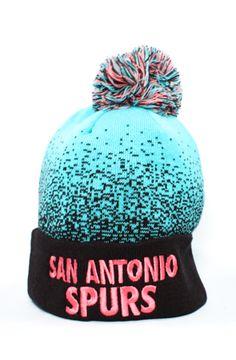 123Beanies San Antonio Spurs Fade Away BeanieCyanPinkBlack Fade Away 9b820bc3e