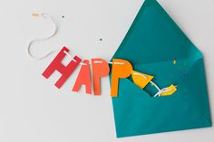DIY Rainbow Fathers Day Card and Banner