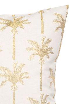 Housse de coussin à motif - Blanc/palmiers - Home All   H&M FR