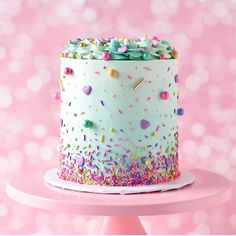 3 ingredient mug cake Fancy Cakes, Cute Cakes, Pretty Cakes, Beautiful Cakes, Amazing Cakes, Fancy Birthday Cakes, Colorful Birthday Cake, Drip Cakes, Bolo Sofia