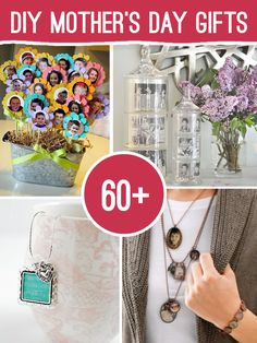 Mother's Day is rapidly approaching. Here are 60+ great handmade gift ideas with mom in mind, that you can make yourself for under 10.00. With jewelry, photo, spa and home gifts to choose from, you will find something just perfect for your mom and she will love that you made it for her.    @:  http://savedbylovecreations.com/2013/04/mothers-day-gifts-you-can-make.html