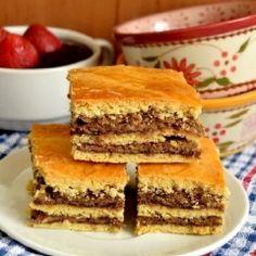 Nuts and Plum Jam Cake recipes - Social Cooking Engine Romanian Desserts, Romanian Food, Jam Cake Recipe, Cake Recipes, Vegan Recipes, Vegan Meals, Jam Tarts, Plum Jam, Italian Cake