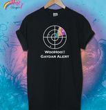 Gaydar Alert Design £8.50 Black Tshirt Rainbow Dust Designs - Printed T Shirts, Custom T Shirts, Pesonalised Clothing