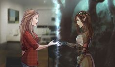 fantasy vs reality - modern vs past - elf - human - female - divide - fay - mythical creature - people Fantasy Inspiration, Story Inspiration, Writing Inspiration, Character Inspiration, Character Concept, Character Art, Concept Art, Fantasy Characters, Female Characters