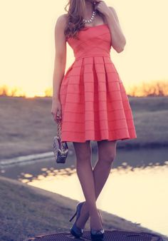 Coral dress for spring!