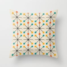 I want one or two!! Midcentury Pattern 02 Throw Pillow by BLKSPC - $20.00