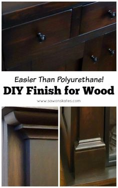 Looking for great wood finish ideas? This tutorial shows how to make an easy DIY three ingredient wipe on top coat finish Easy Woodworking Ideas, Woodworking Logo, Learn Woodworking, Woodworking Plans, Woodworking Furniture, Woodworking Education, Woodworking Chisels, Woodworking Basics, Workbench Plans