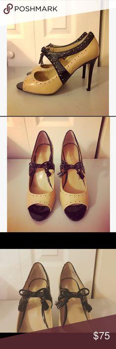 Enzo Angiolini Eamodra Peep-Toe Pumps Beautiful peep hole pumps  Leather upper  Slip ons Gently used 💗 Enzo Angiolini Shoes Heels