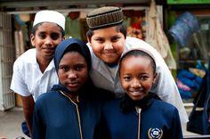 #kids #boys #girls #muslim #friendship #smile #hats copyright by Luca Zordan