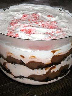 Triple Chocolate Peppermint Brownie Trifle-Christmas Dessert! xo