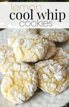 Lemon Cool Whip Cookies are easy to make with only 4 ingredients. They are the perfect cookie for the holidays. - Eating on a Dime
