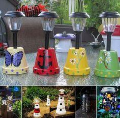 36 DIY Waterdrop Solar Lights To Your Garden Ideas Best Picture For Solar light crafts wine bottles Diy Solar, Solar Light Crafts, Lighting Your Garden, Backyard Lighting, Outdoor Lighting, Outdoor Lamps, Solar Lights For Garden, Solar Patio Lights, Exterior Lighting