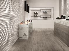 White-paste 3D Wall Cladding BLADE by Atlas Concorde