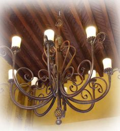 #rusticahouse #ceiling #light fixtures are #handcrafted out of #forged #iron and tin in #Mexico. Many #myrustica #designs resemble #old #European #past and #Spanish #style #rustic #illumination #homedecor #heritage.