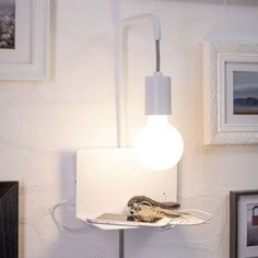 Paulmann Calvani vegglampe med hylle A Shelf, Shelves, Lampe Applique, Lampe Decoration, Wall Lights, Ceiling Lights, Simple Designs, Plank, Puerto Usb