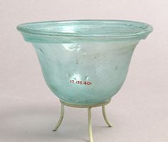 7-8th C. Palm Cup Glass Dimensions: Overall: 2 5/8 x 4 3/16 in. (6.6 x 10.6 cm)