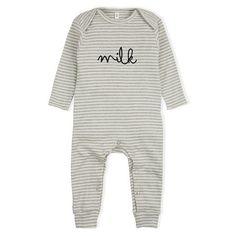 d90c6124f2 Organic Zoo Milk Playsuit   All in one - Grey Stripes