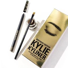 898edf63640 Birthday Edition Kylie Kyliner Eyeliner and Gel Liner Kylie Cosmetic, Kylie  Jenner Birthday Collection,
