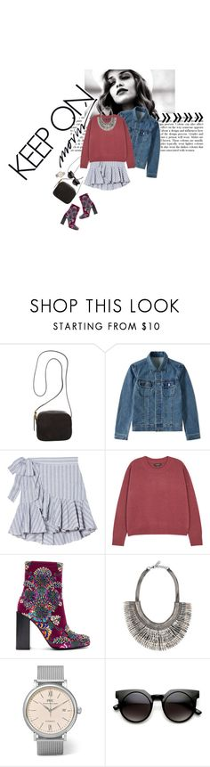 """Untitled #813"" by frutini ❤ liked on Polyvore featuring The Row, A.P.C., Isabel Marant, Jeffrey Campbell, Stella & Dot, IWC Schaffhausen and Retrò"
