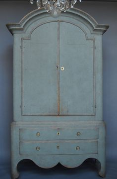 Large period cabinet with two drawers from Jåmtland, Sweden, circa 1760.
