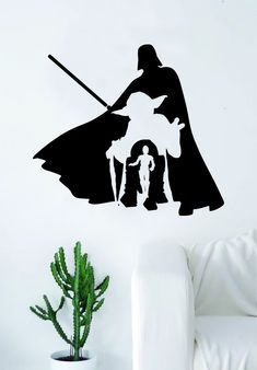 Star Wars Collage V2 Quote Decal Sticker Wall Vinyl Decor Art Room Teen Kids Movies Darth Vader Yoda R2D2 C3P0 Jedi Dark Side