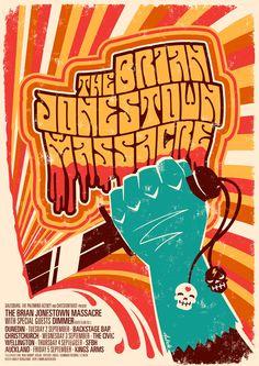"""The Brian Jonestown Massacre Gigposter""    by Hadley Donaldso"