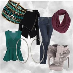 """Rainy Day Outfit"" by tinadhiggins on Polyvore"