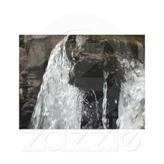 $94.27 Over the Edge Gallery Wrapped Canvas. Water flowing over the edge in a makeshift waterfall area at a community park. Nature image.