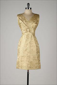 1950's Metallic Brocade Dress