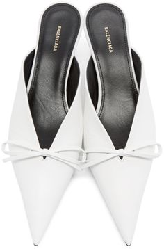b300959e3bad Balenciaga - White Leather Knife Mules